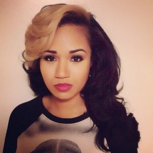 Wavy Weave Hairstyles With Side Part