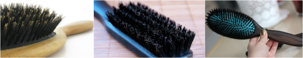bristle brush boar and synthetic that is used to comb 100% genuine human indian hair extensions